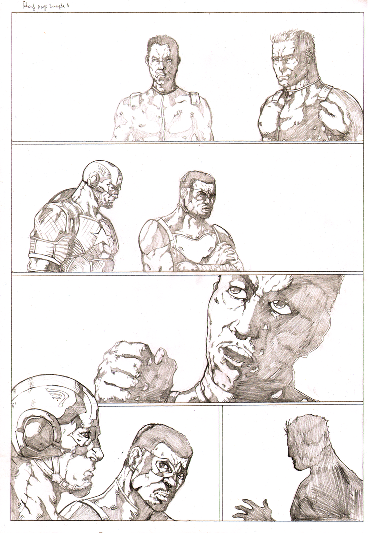 Talking page 1 of 2 pencils by Marvelzukas
