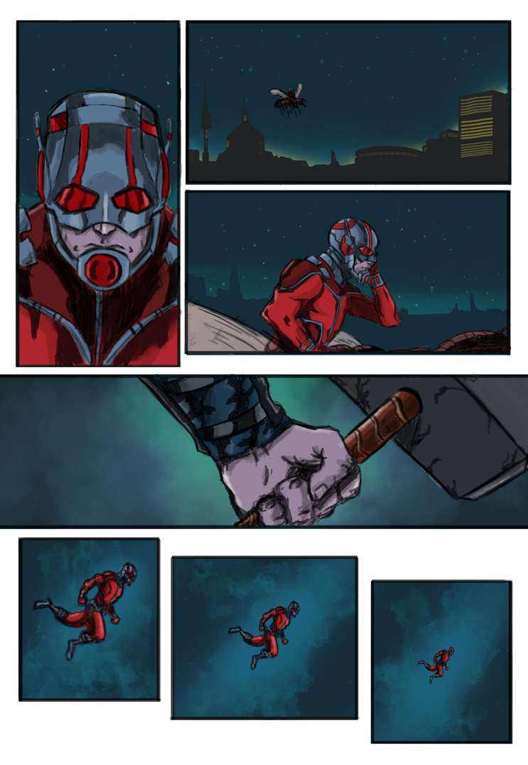 Antman page 1 paint by Marvelzukas