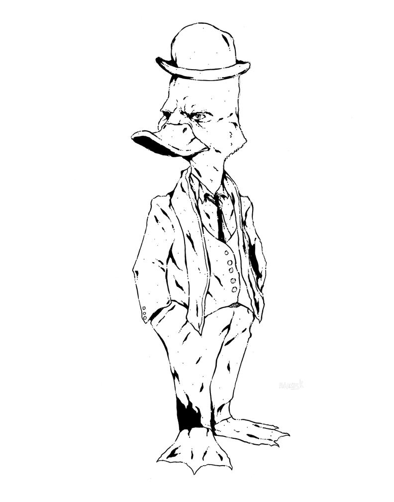 Howard the Duck inks by Marvelzukas