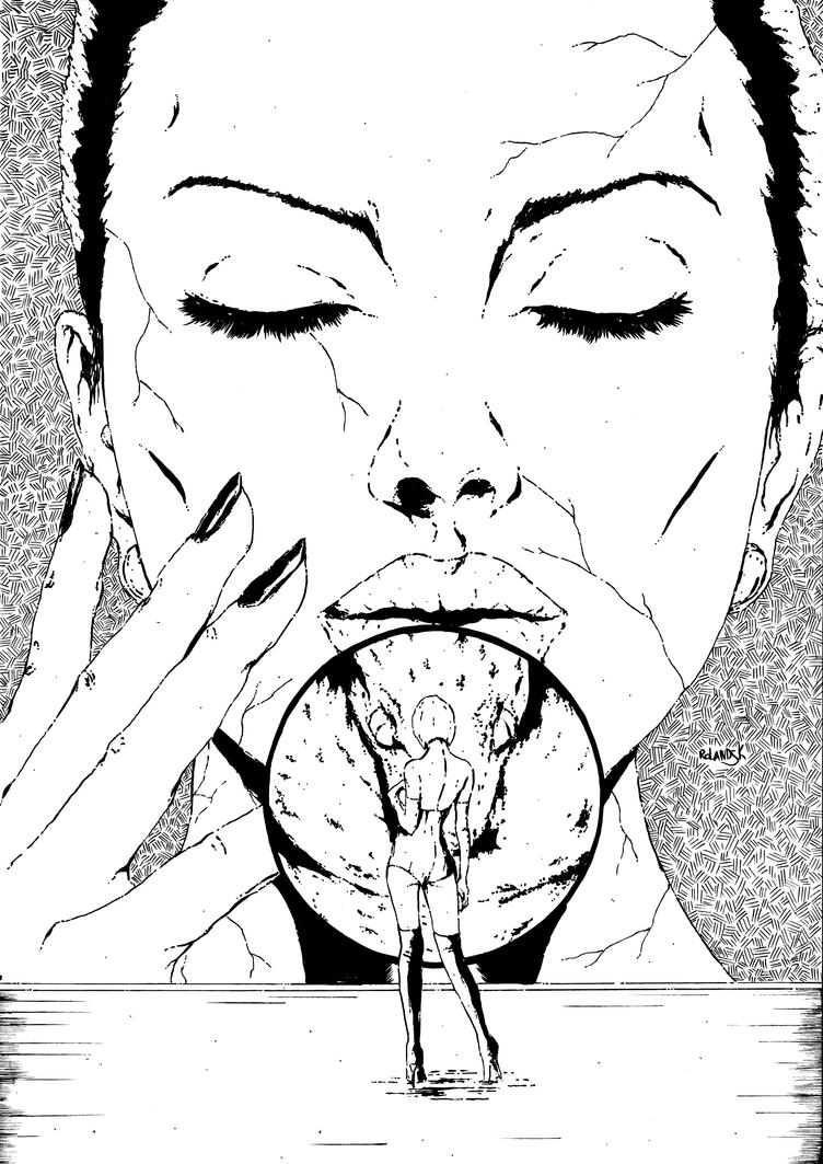 Potato face cover inks by Marvelzukas
