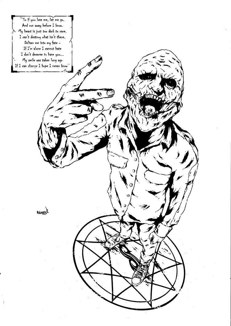 Slipknot poster inks by Marvelzukas