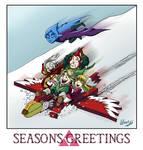 Legend of Zelda - Seasons Greetings from Skyloft by ryuuza-art