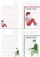 Personalised Portrait Letter Paper - Examples by ryuuza-art
