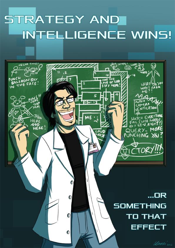 Strategy and Intelligence Wins by ryuuza-art