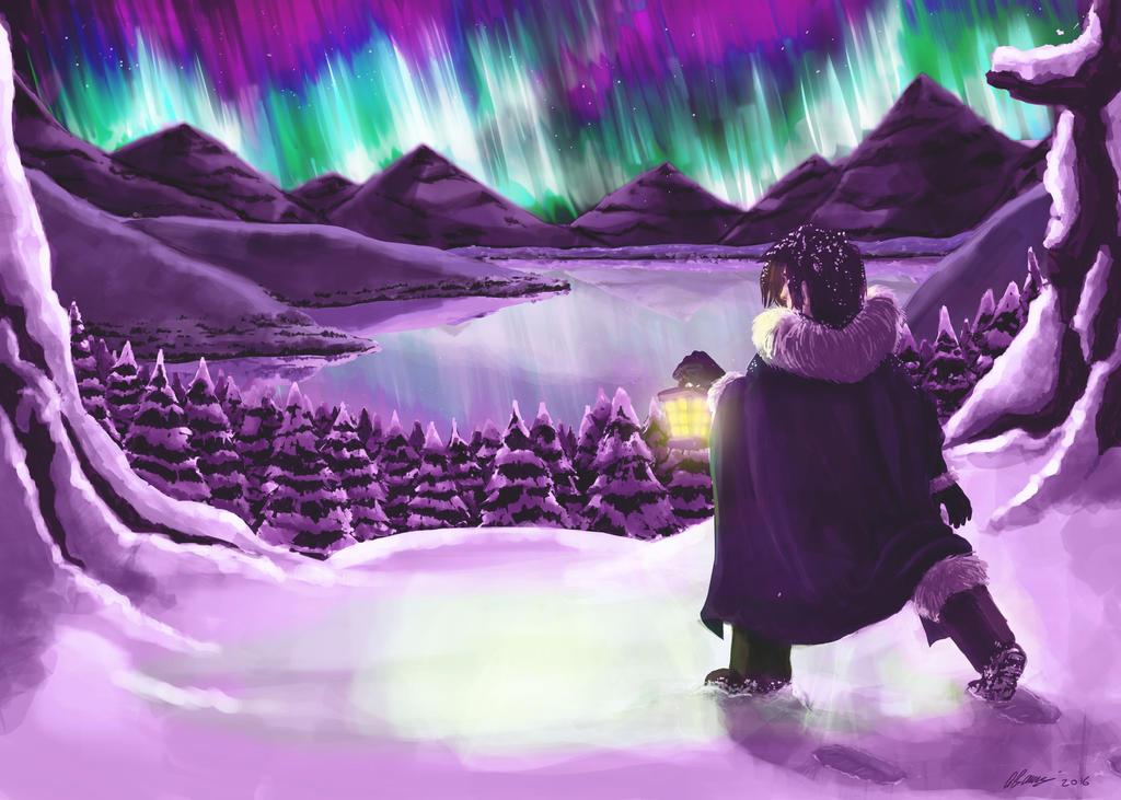 Northern Lights (new version) by ryuuza-art