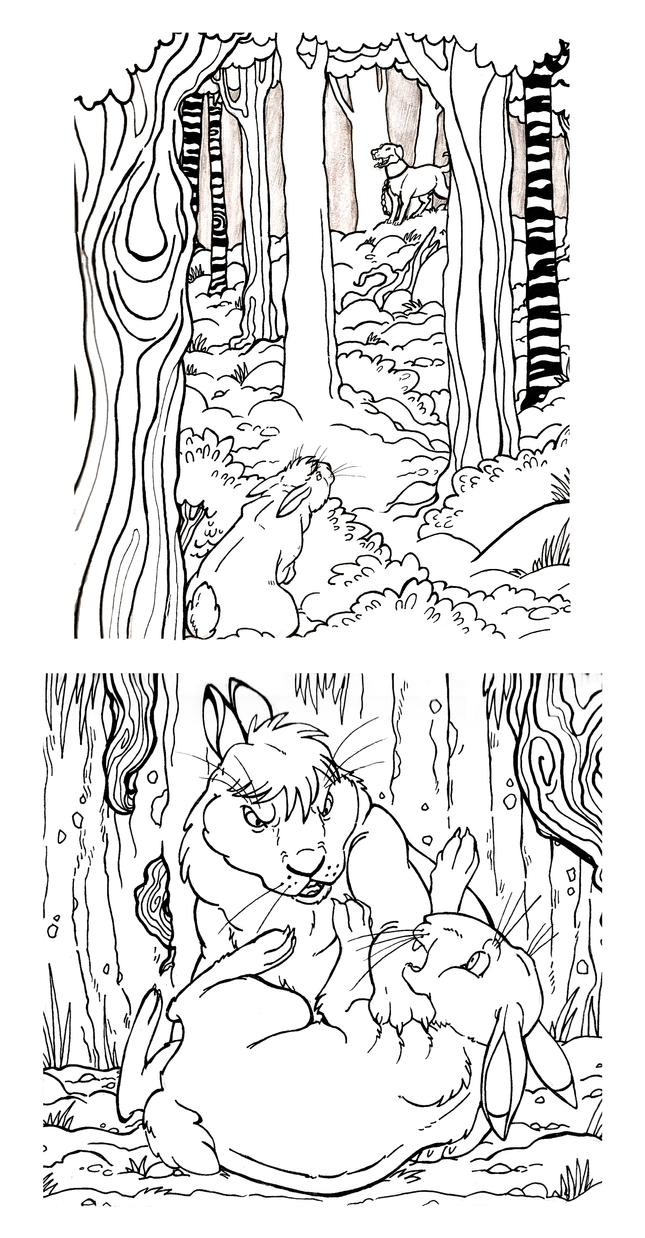 Watership Down Inks by killskerry