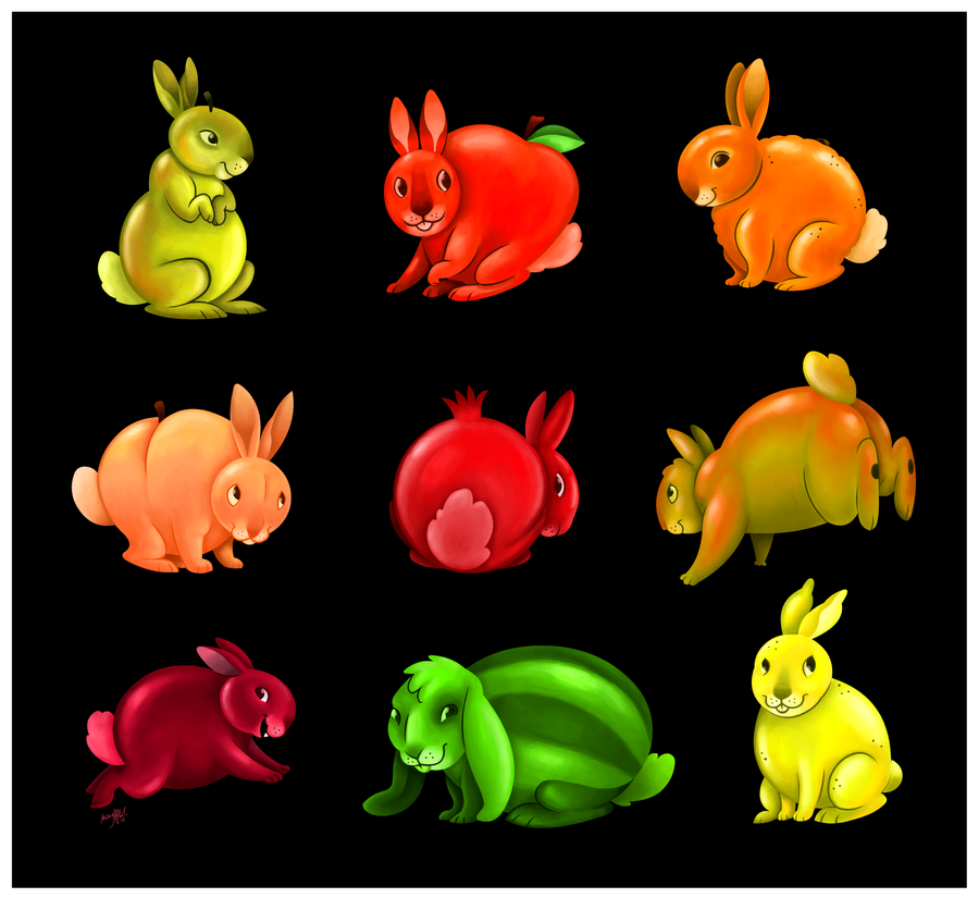 Ambrosia Salad Bunnies by killskerry