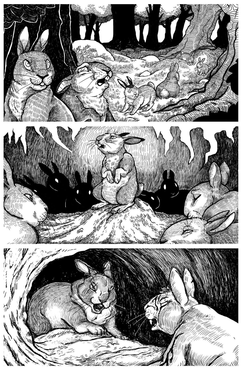 Adventures on Watership Down by killskerry