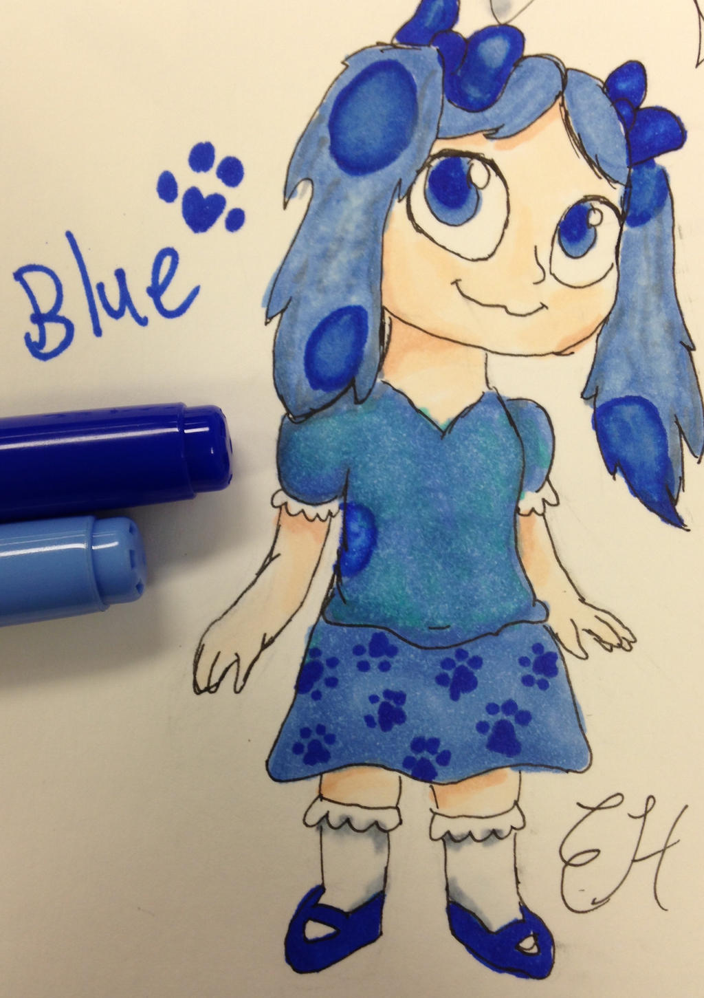 blue u0027s clues human copic sketch by dinokitty128 on deviantart
