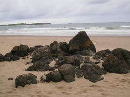 Beach rocks by mindCollision-stock