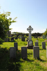 Celtic cross and Gravestones by mindCollision-stock