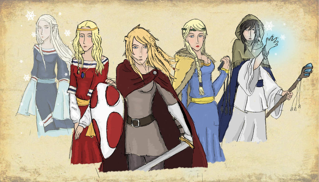 satw - the nordic sisters - northern lights by aldohyeah