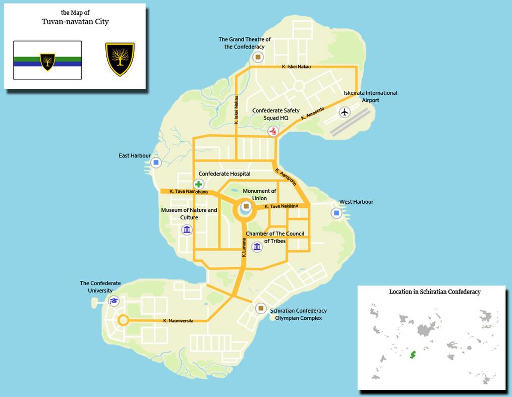 Schiratian Confederacy Maps - Council Island Map by aldohyeah