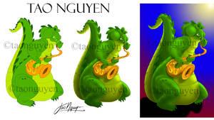 Tao Nguyen's Saxy Alligator Artwork by TaoNguyenArts