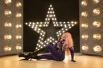 shiny star woman posing