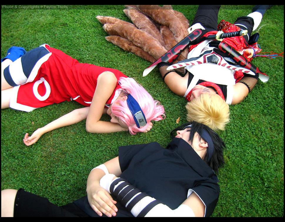 Naruto/Sasuke/Sakura en la vida real..(cosplay)