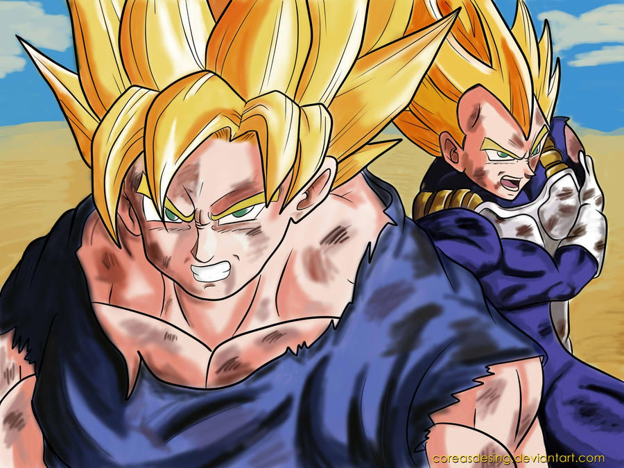 Goku y Vegeta SSJ