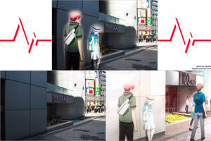 Angel Beats! Pilgrimage site - Shibuya 109 by SquallEC