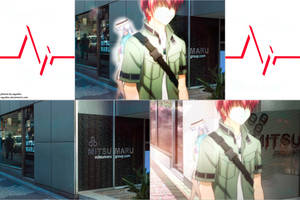 Angel Beats! Pilgrimage site 2 - Shibuya 109 by SquallEC