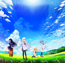 Summer Pockets Title Menu Panorama by SquallEC