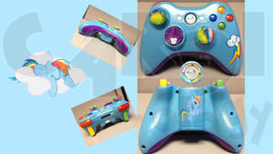 Rainbow Dash Custom-Designed Xbox Controller