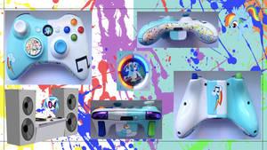 Rainbow Dash/Vinyl Scratch Custom X360 Controller