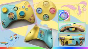 Rainbow Dash/Fluttershy X360 Custom Controller