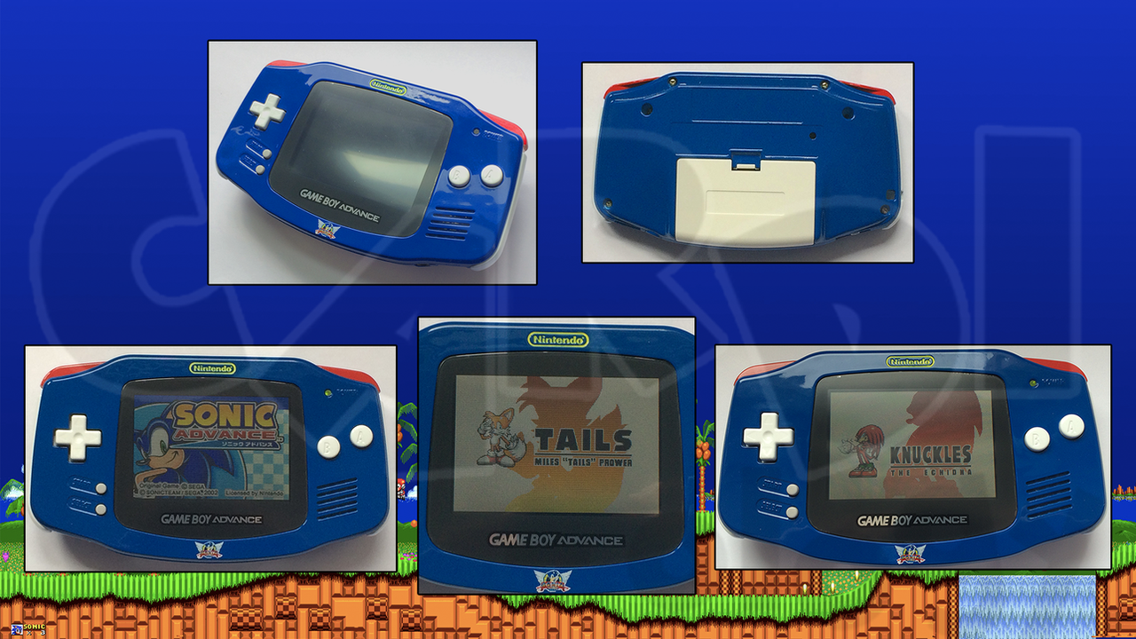 Custom Sonic the Hedgehog Original GameboyAdvance by CARDI
