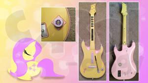 Customized Guitar Hero Fluttershy Guitar X360 by CARDI-ology