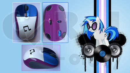 Custom Vinyl Scratch DJ Pon-3 Mouse (Logitech M305