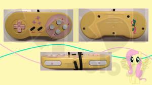 Fluttershy Custom SNES Super Nintendo Controller by CARDI-ology