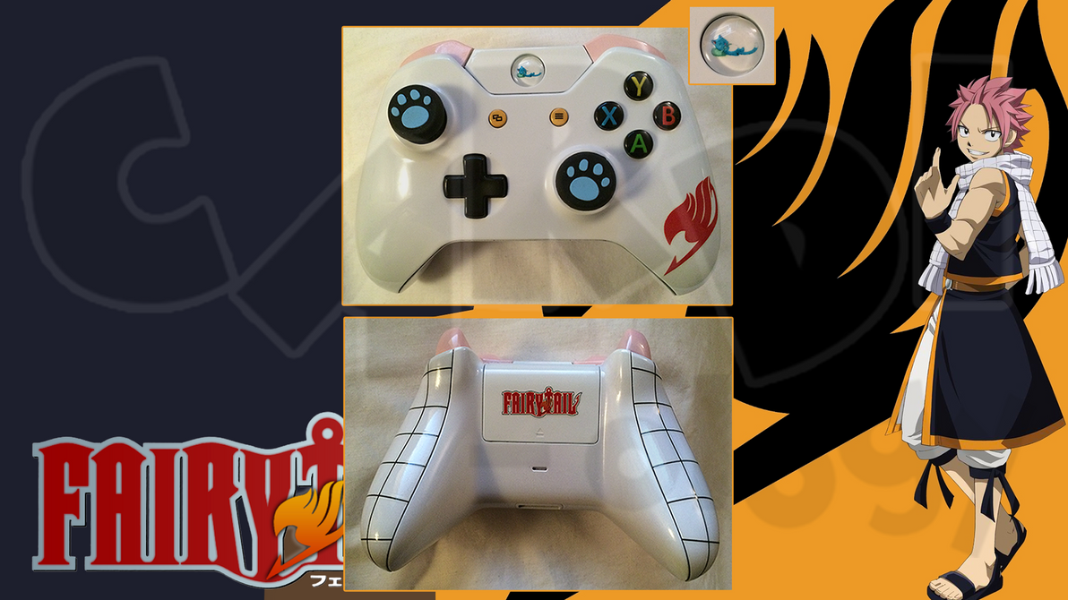 Fairy Tail Custom Xbox One Controller By Cardi Ology On
