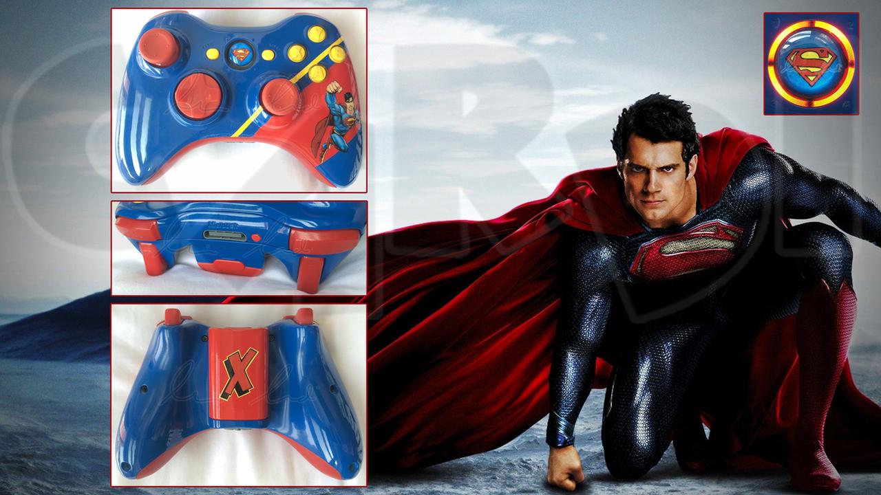 Custom Superman Xbox360 Controller By Cardi Ology On