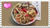 Fish Sauce Pasta Stamp by CARDI-ology