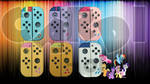 Custom Nintendo Switch Controller My Little Pony by CARDI-ology