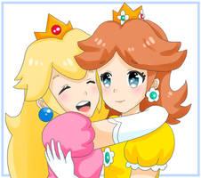 Peach and Daisy - BFF's