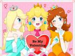 Be My Valentine - Peach, Daisy, and Rosalina