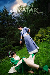 Toph Bei Fong, Katara - Avatar: The Last Airbender by TophWei