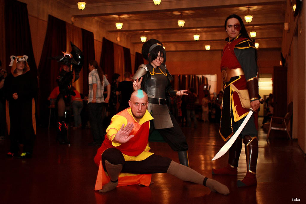 Avatar The Legend of Korra - Aang, Toph, Zuko by TophWei