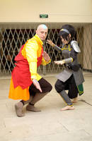 Toph, Aang - Legend of Korra by TophWei