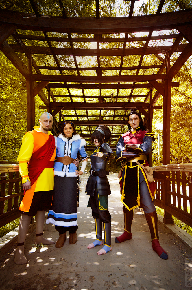 Aang, Katara, Zuko,Toph - Avatar by TophWei