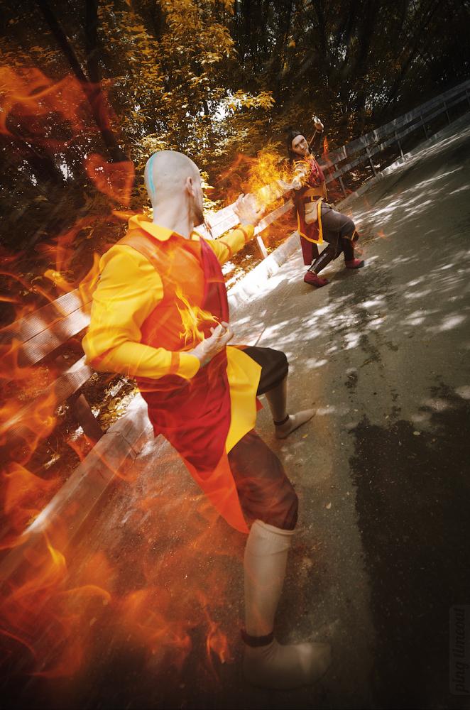 Aang, Zuko - Avatar The Legend of Korra by TophWei