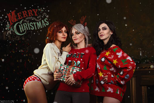 Ciri, Yennefer, Triss - Witcher Christmas