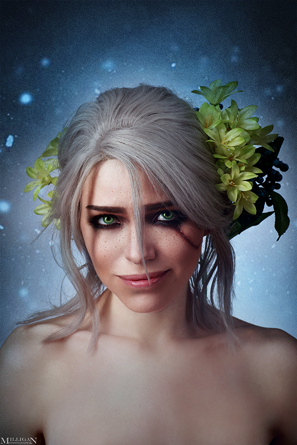 Ciri and Flowers by TophWei
