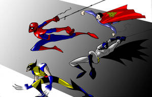 superheroes by melonchan