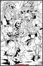 He-Man v Dragon Blaster Skeletor