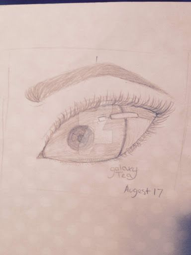 A (Realistic?) Eye by GalaxyTeaArt