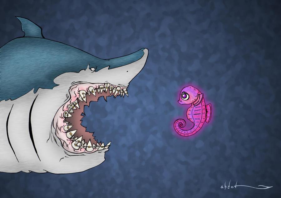 Tiburon y Hipocampo by abdol-ilustrador