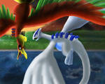 Lugia and Ho-oh Eternal Friends