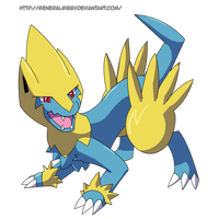 My Favorite Electric Type 2014- Manectric by GeneralGibby